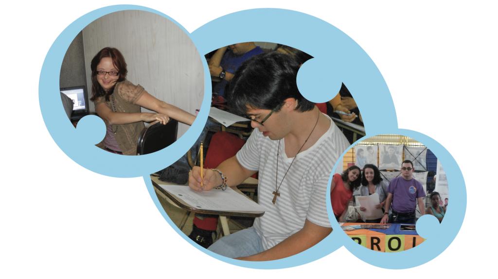 Collage de tres fotografías de estudiantes de PROIN en clase